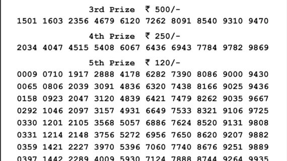 Download Result Nagaland State Lotteries Dear Mars Saturday Morning 16-01-2021 4:00Pm